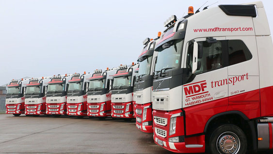 Volvo FH Trucks in a row