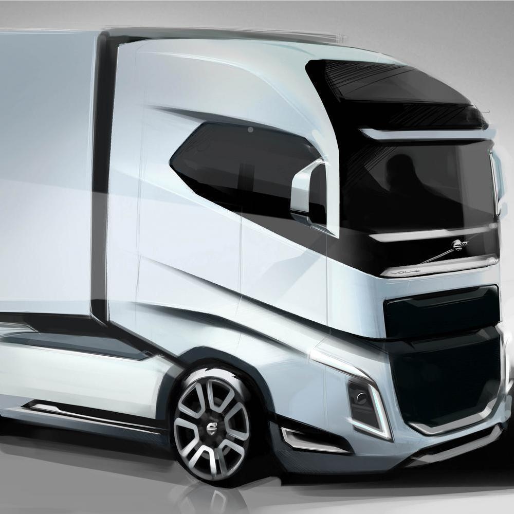 Sketch of a truck.