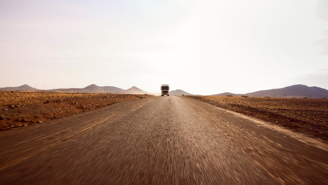 Volvo FH on Moroccan highway