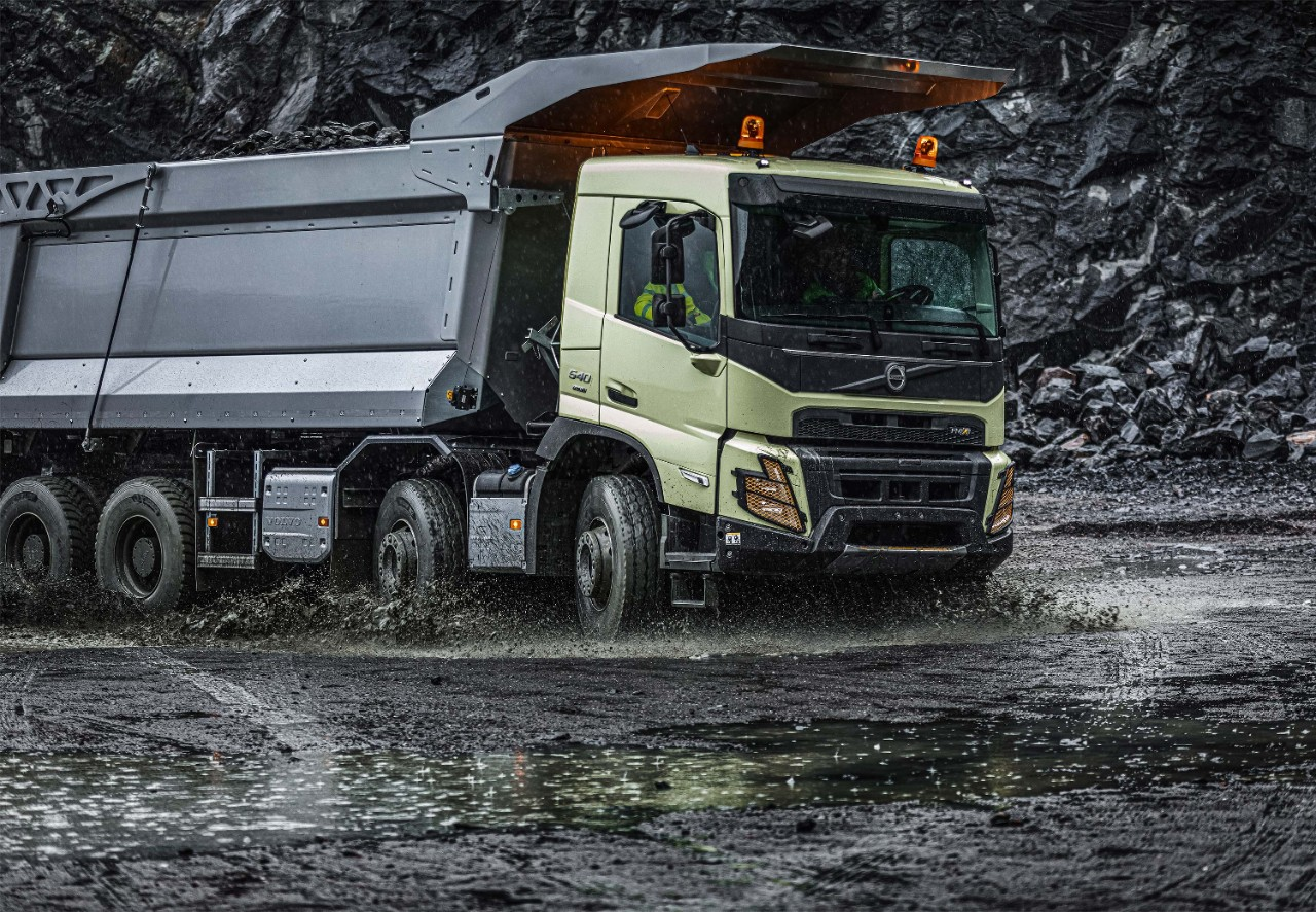 The Volvo FMX is perfect when going off-road.